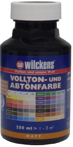 Wilckens Vollton- und Abtönfarbe 250ml / matt / schwarz