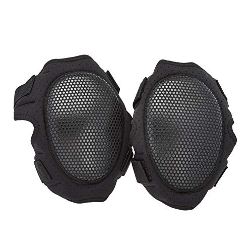 AmazonCommercial Non-Marring Foam-Cap Knee Pads, 11.5 in, Black, 1 pair