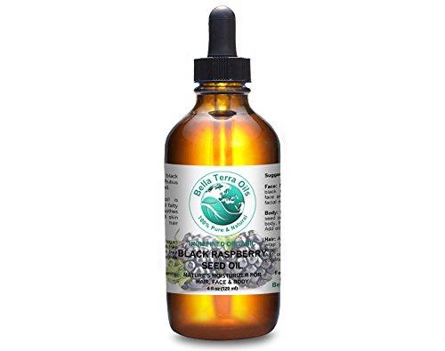 Black Raspberry Seed Oil 4 oz 100% Pure Cold-pressed Unrefined Organic - Bella Terra Oils
