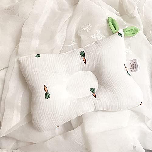 HDEC Almohada de Gasa de Algodón Puro para Bebés 0-1 Años para Corregir La Cabeza Parcial Almohada para Bebés Almohada Moldeadora Cabeza Anti-Excéntrica Cojín de Posicionamiento Transpirable,N