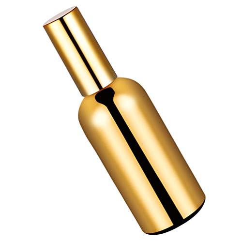 Hemoton Botella de Pulverización Vacía Botella Dispensadora de Cóctel Botella de Spray Botella de Limpieza Rellenable Contenedor de Aceites Esenciales Dorados Botella de Maquillaje para