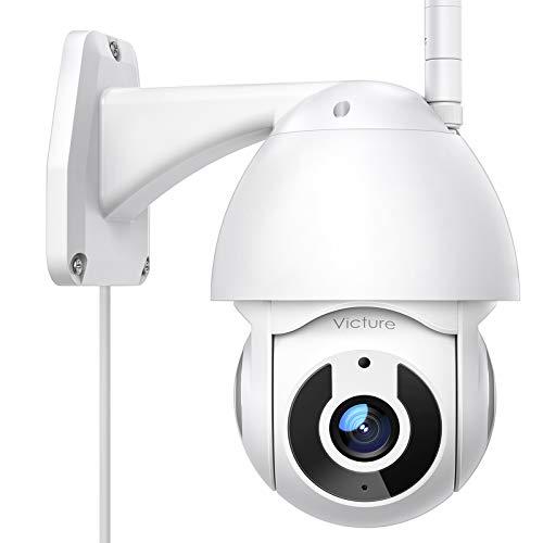Victure Cámara WiFi Exterior FHD 1080P con Vista panorámica/inclinación de 360°, visión Nocturna, Impermeable, IP66, detección de Movimiento, Compatible con iOS/Android.