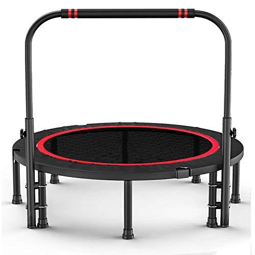 Bouncer met leuningen, Indoor Fitness Trampoline, Opvouwbare Trampoline, Indoor Kinder Trampoline, Geschikt voor Gym/Indoor Oefening/Aerobics, 40 inch