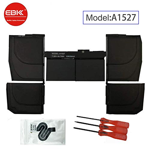 EBKK A1527 A1705 Replacement A1534 Early 2015 2016 Mid 2017 Battery for MacBook Retina 12' MF855LL/A MK4M2CH/A MK4M2LL/A MNYG2LL/A MF855CH/A MF865CH/A MF865LL/A MJY42CH/A MJY32LL/A 661-02267