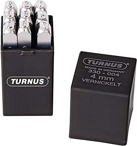 Turnus 0007697220006 Schlagzahlensatz Schrifthöhe vernickelt 9-teilig, 6mm