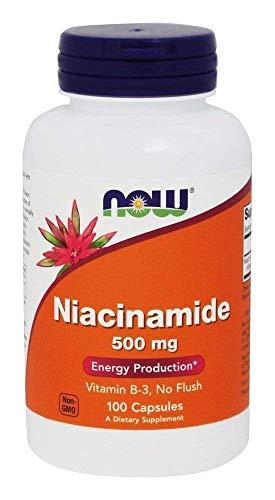 NOW 500mg Niacinamida Vitamina B3 Veg 100 Cápsulas 100 g