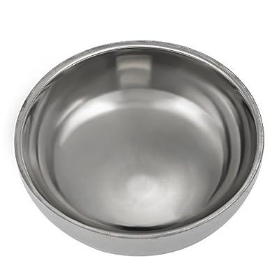 Anself Stainless Steel Shaving Brush Bowl Shaving Mug Cup Cream Soap Bowl Silver from Anself