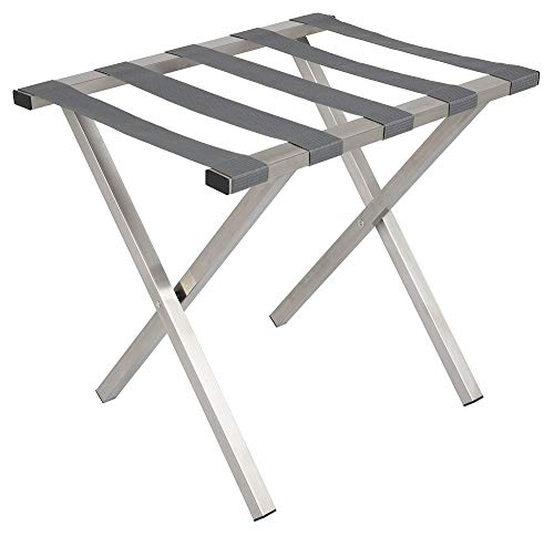 Purchase Wholesale Hotel Products MLR_SQ_BS_GR Brushed Stainless Steel Luggage Rack, Straps, Square ...