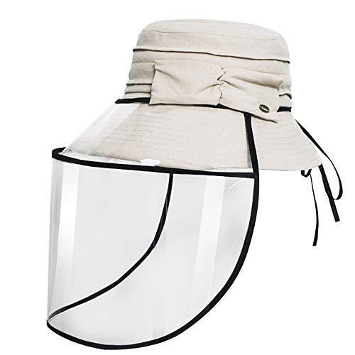 Daily noodzaak sities Zonnehoed voor buiten, brede rand en afneembare vishoed met transparante plaat, compacte zonnehoed voor volwassenen, UV-bescherming