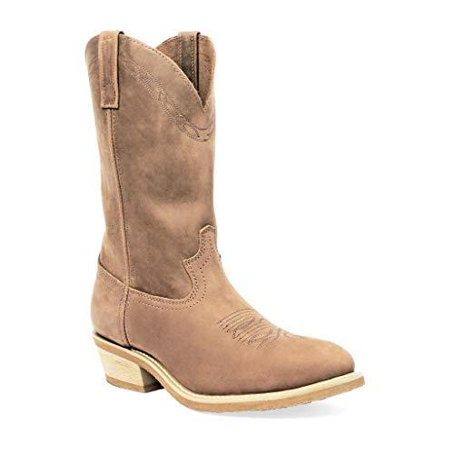 Masterson Men's Tan R Toe Western Cowboy Boot (Tan, numeric_13)
