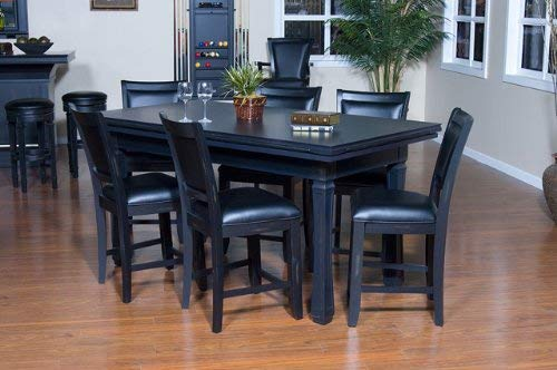 Big Sale Burlington 7-Piece Game Table and Chairs Set in Peppercorn