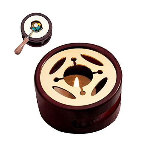 Kit de Cera Para Horno De Fusión,CHENKEE kit de Fusión de Calentador sello de Cera Herramienta Horno de fusión de Cuentas de cera con Cuchara de Fusión para Manualidades Sello de Cera(Diseño ovalado)