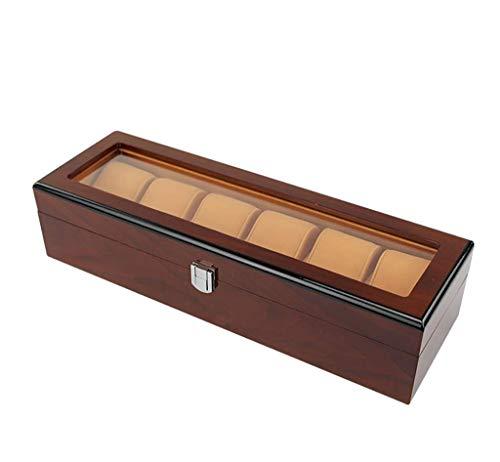 Horloge Opbergdoos Houten Mannen En Vrouwen Grote 3 Standaard Kussens Sieraden Box Reizen Of Raam Display Accessoires (Maat: B)
