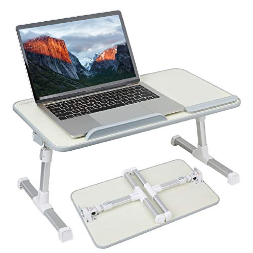 Laptop Stand Computer Desk, Adjustable Laptop Table, Bed Tray, Lap Desks Bed Table for Eating, Bed Desk, Laptop Table Height and Angle Adjustable, Foldable Standing Desk for Writing in Sofa and Couch