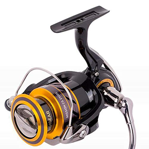 Reels Fishing Reels Coarse Spinning Reel Fishing Reel Stainless Steel Ball Bearing Interchangeable Left and Right Saltwater Fishing Spool Best Gift (Color : Yellow, Size : 2000)