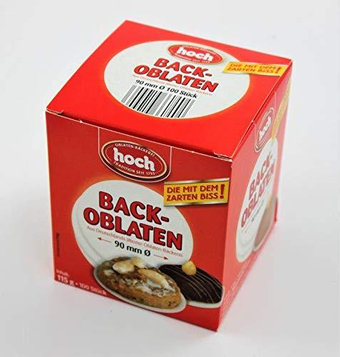 100 Stück Backoblaten f. Makronen/Lebkuchen, Back Oblaten, Lebkuchenoblaten, Durchmesser:9 cm