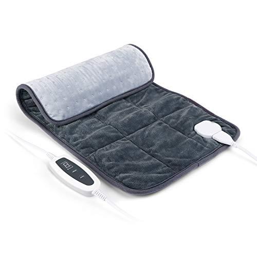 SIMBR Heizkissen 6 Stufen Temperaturstufen Wärmekissen zur Behandlung von Schmerzen für Rücken, Nacken, Schulter, Taille, Beine, Schnelle Heizung und besteht aus Kristallsamt