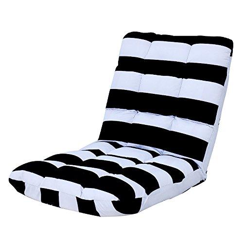 G-Y Sofa paresseux se pliant Sofa simple simple de dos d'ordinateur de sofa de chaise de dos (Couleur : Noir et blanc)