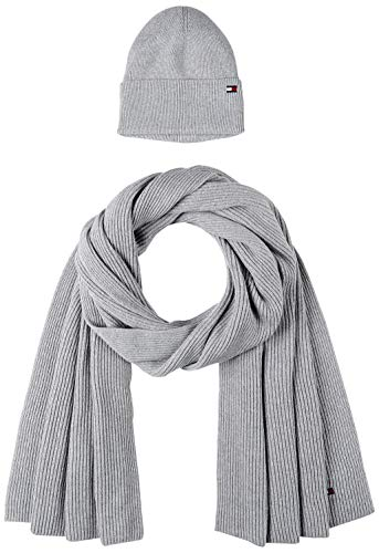 Tommy Hilfiger Damen Essential Knit Beanie & Scarf Gp Winter-Zubehör-Set, Clay Pink, OS