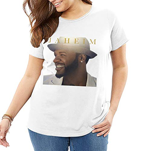 John J Littlejohn Jaheim Da de la Apreciacin de la Mujer Camiseta de Algodn Tops Casual Camisa de Calle Wear Plus Size T-Shirt