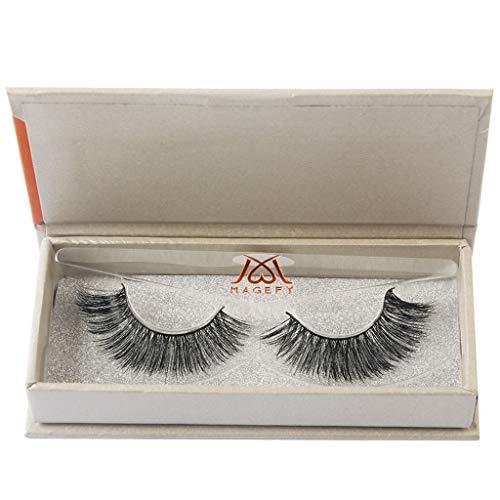Damen Wimpern, SHOBDW 3D Natürliche Multi Layer Dickes Kreuz Auge Wimpern Falsche Wimpern (A03)
