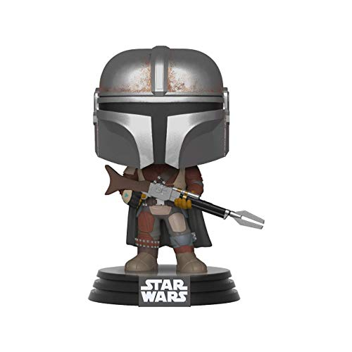 Funko Pop Bobble Vinyle: Star Wars The Mandalorian-Mndnalorian Figurine de Collection, 42062, Multicolore