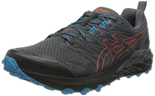 Asics Gel-Trabuco Terra, Trail Running Shoe Hombre, Metropolis/Marigold Orange, 43.5 EU