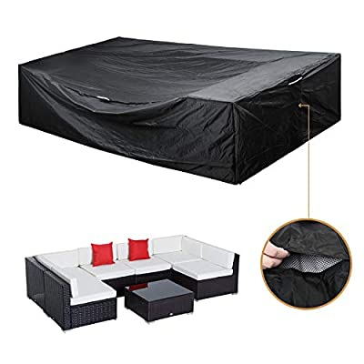 "Patio Furniture Set Cover Outdoor Sectional Sofa Set Covers Outdoor Table and Chair Set Covers Water Resistant Large 126"" L x 64"" W x 28"" H"