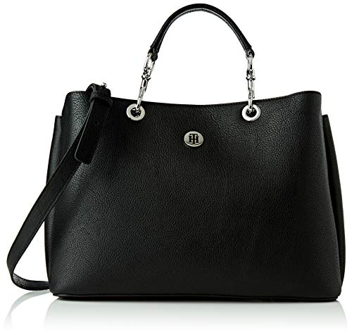 Tommy Hilfiger, TH CORE SATCHEL Donna, Nero, OS