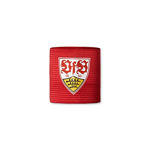 VfB Stuttgart Kapitänsbinde rot mit Wappen