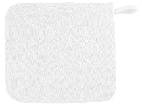 ALVI 93910 Lot de 3 gants de toilette en mousseline Blanc