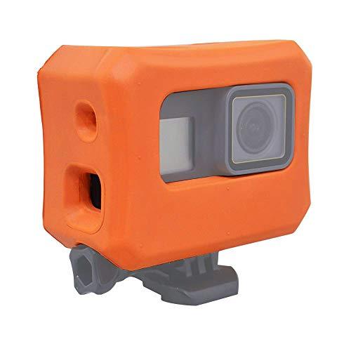 micros2u oranges Schwimmer/Schwimmgehäuse. Kompatibel mit GoPro HERO 7, HERO 6, HERO 5 & Hero 2018. Ideal für den Einsatz beim Wassersport!