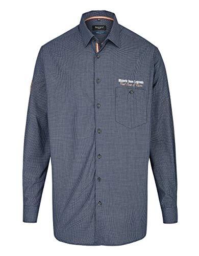 Bexleys man by Adler Mode Hemd im Freizeitlook mit Kleinkaro, Regular FIT Blau/Weiß 39/40