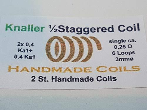 2St. Knaller Coils Staggered Fused Clapton mit einer Clapton Coil parallel deutsche Handarbeit, keine Chinaware
