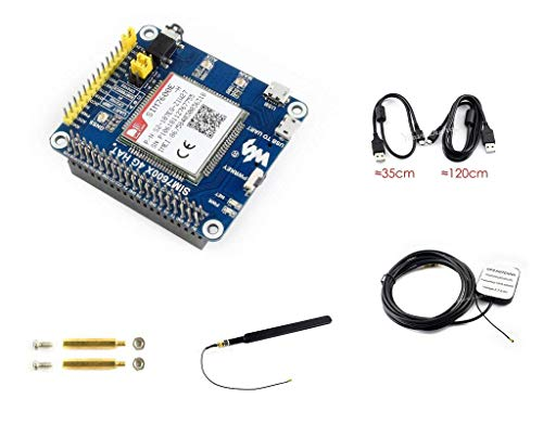 4G/3G/2G/GSM/GPRS/GNSS Hat Based SIM7600E-H for Raspberry Pi/Jetson Nano Support LTE CAT4 for Downlink Data Transfer/4G High-Speed Connection/Telephone Call/Sending SMS