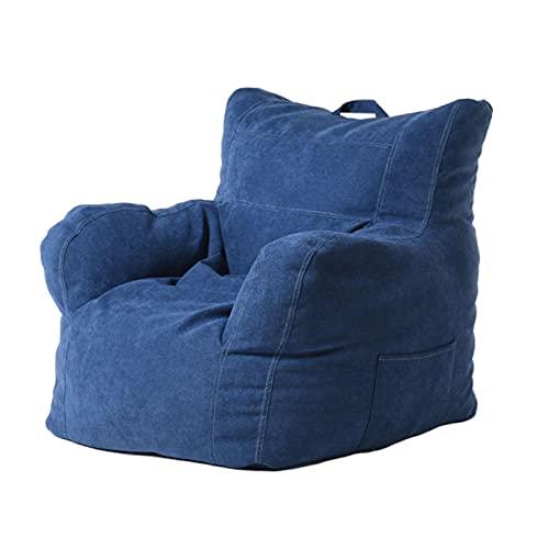 Lazy Bean Bag Funda para Silla de sofá sin Relleno Gran Bolsa de Frijoles con Respaldo Alto Funda para sofá Relajante reclinable Interior al Aire Libre para niños y Adultos