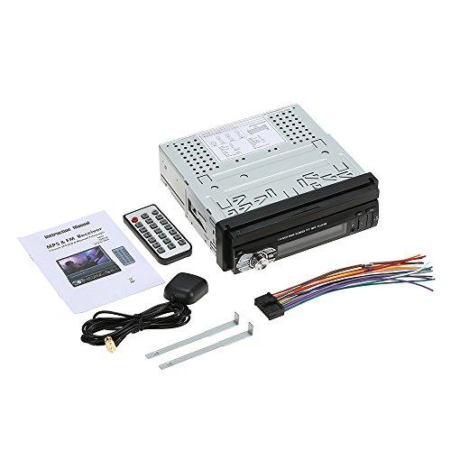 Autoradio 1 Din Navigatore GPS, KKmoon 7 Pollici Stereo Radio Auto con schermo, Universale Stereo 1 din Autoradio usb retrattile multimediale d'intrattenimento Lettore MP5 con BT FM SD
