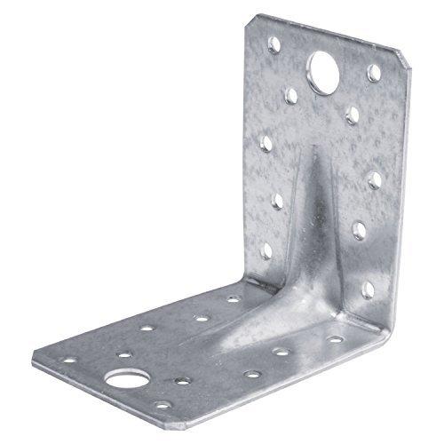 Winkelverbinder Lochwinkel Bauwinkel verzinkt 90 x 90 x 65x2,5 mm mit Steg 10 Stück