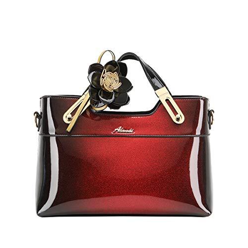 NIYUTA Bolsos de mano Mujer Charol Moda Elegantes Bolsos bandolera Diseñador Casual Vintage Bolsos de fiesta