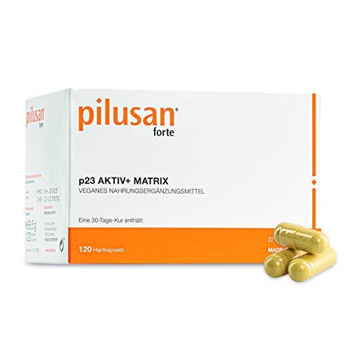 PILUSAN FORTE Haar-Vitamine - innovative & hochdosierte Haar-Kapseln in deutscher Apotheken-Qualität - 360 vegane Kapseln mit Zink, Biotin, Folsäure, Selen (90 Tage Kur)