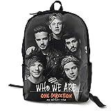 One Direction Winte Traveling Backpack College Backpack Student Bookbag Multipurpose Daypacks