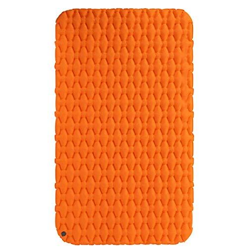 yunyu Luftmatratze Aufblasbare Matratze Tragbare Campingmatte Doppelschlafunterlage Ultraleichtes Klappbett Reiseschlafmatte (Farbe: Orange)