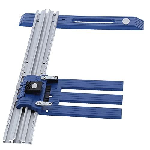 Placa de guía de sierra circular de corte para carpintería Les-Theresa Placa de posicionamiento de sierra circular de corte rasgado de aleación de aluminio 0-65cm