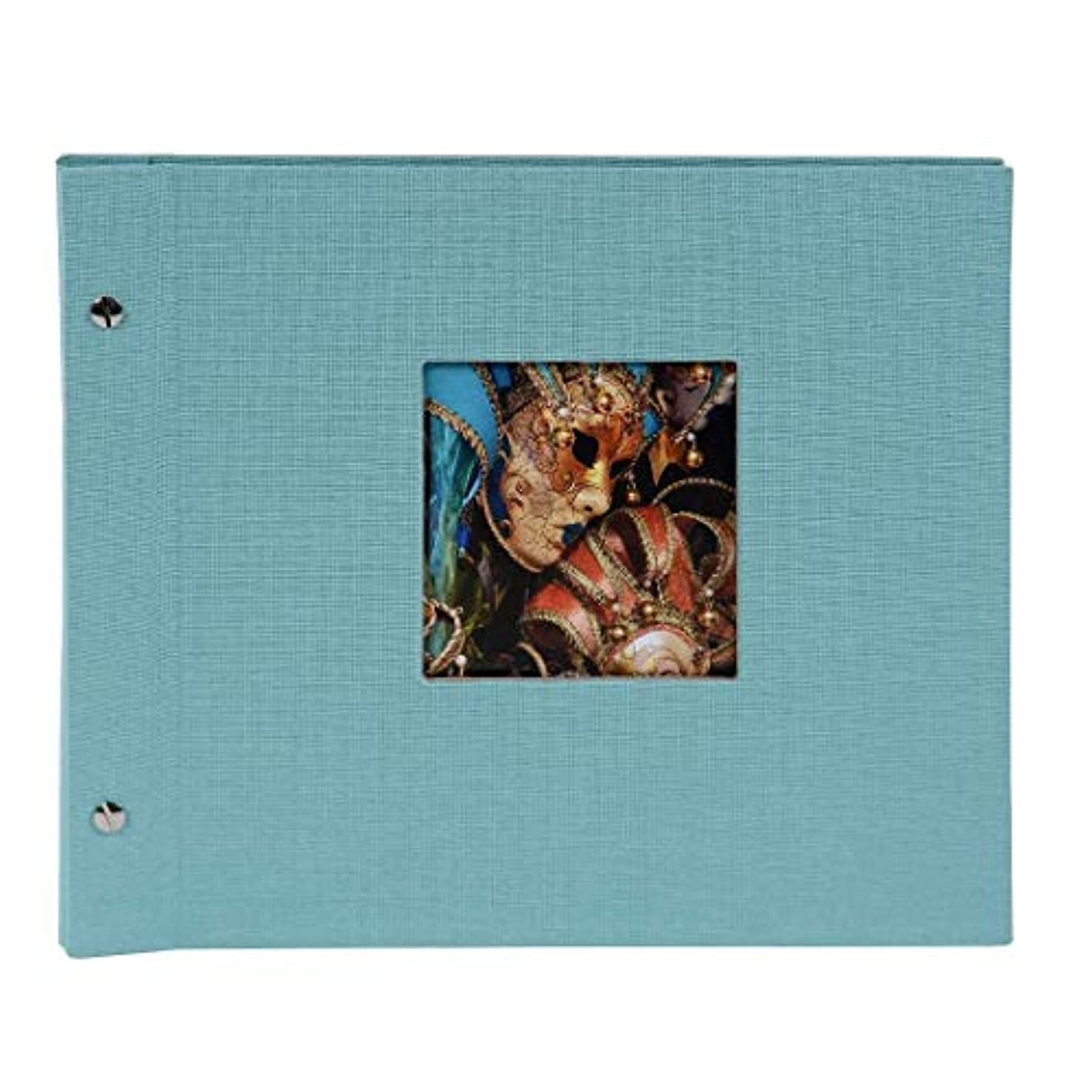 Goldbuch Spiral Album Bella Vista, 35?x 30?cm 40?Black Sheets Aqua?–?25507