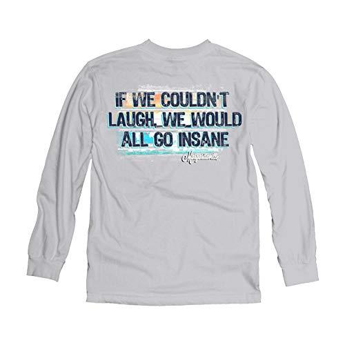 Margaritaville Men's All Go Insane Graphic Long Sleeve T-Shirt, Aluminum, 3X-Large