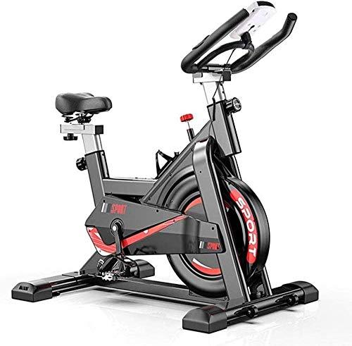 Bicicleta de ejercicio con monitor de ritmo cardíaco pantalla LCD sensores de pulso súper silencioso Spinning Bike para el hogar Fitness
