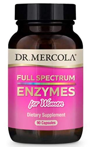 Dr. Mercola, Full Spectrum Enzymes for Women Dietary Supplement, 90 Servings (90 Capsules), Provides Digestive Support, non GMO, Soy Free, Gluten Free
