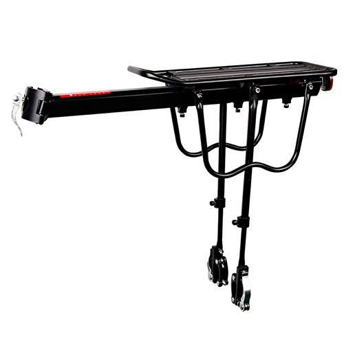 User-friendly 20-29'' Mtb 4.0'' Fat Bike Bicycle Luggage Carrier Cargo Rear Rack Shelf Cycling Bag Stand Holder Trunk Perfect Bike Gift (Color : Quick Mount)