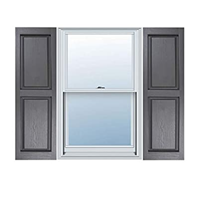 Builders Choice Vinyl Raised Panel Window Shutters, w/Shutter Spikes & Screws (Per Pair)
