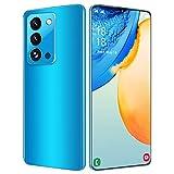 Pretty Store Teléfono Inteligente Android 5G, Batería De 6800 MAh, Pantalla Infinity-V De 7.0 Pulgadas, RAM De 256 GB / 8 GB, SIM Dual, Versión Alemana (Color : Blue)